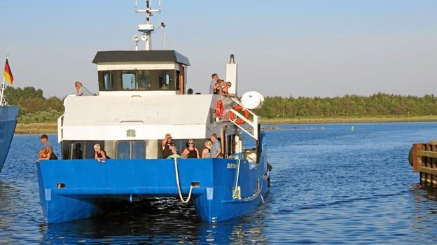 Turbåden Bertha K er igen klar til at agere Limfjordsbus. Fotos: Morsø Turistbureau.
