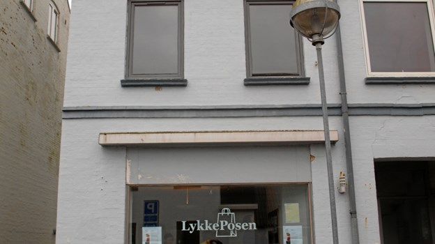 Det er her Lykkeposen har til huse i Strømgade 1 Foto: Arne Larsen-Ledet
