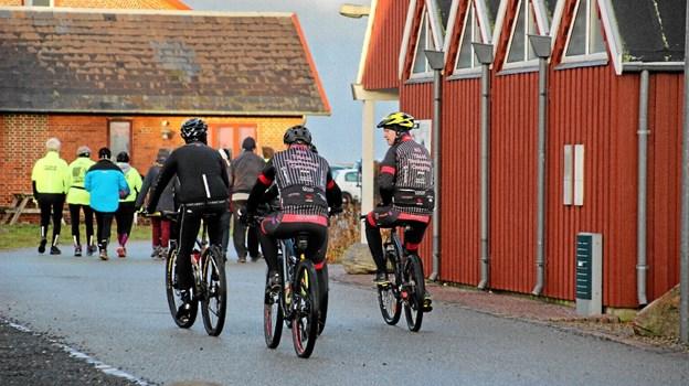 Mountainbikerne startede til sidst. Mon ikke de overhalede de fleste undervejs! Foto: Hans B. Henriksen Hans B. Henriksen