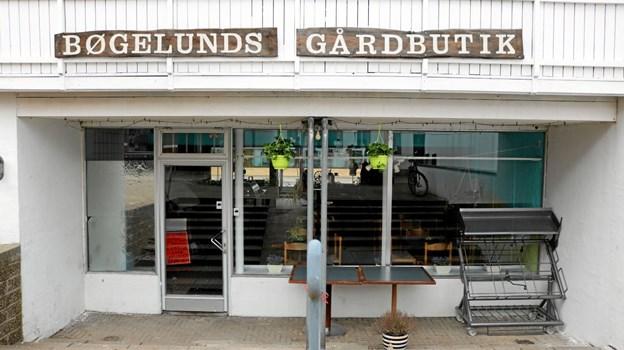 Bøgelunds Gårdbutiks indgang fra Grønnegade Foto: Tommy Thomsen Tommy Thomsen