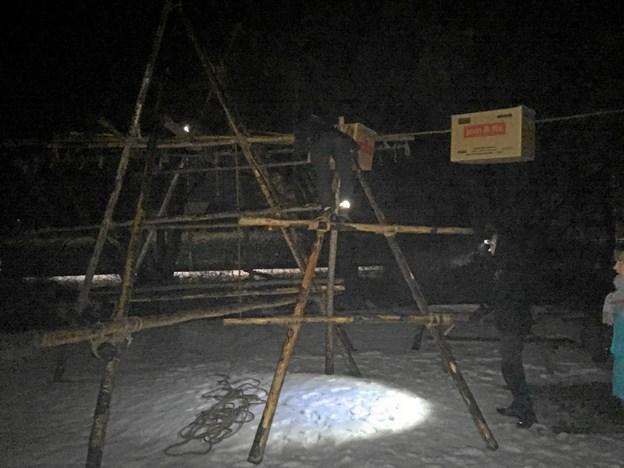 Spejderne fik mange udfordringer undervejs og skulle blandt andet bygge en trebenet stige. Foto: Privatfoto Privatfoto