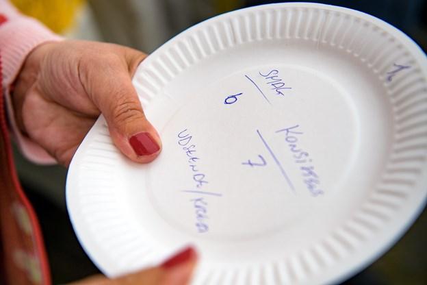 Bedømmelsen foregik meget passende på desserttallerkener. Foto: Bo Lehm Foto: Bo Lehm