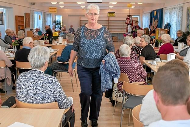 Anna Grethe Gaardbo viste tøj til den modne kvinde. Foto: Niels Helver Niels Helver