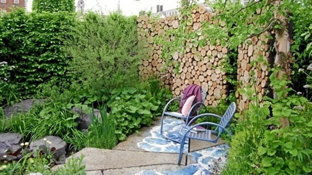 The M&G Garden designet af Andy Sturgeon var frodig, grøn og næsten uden blomster. PR-foto.