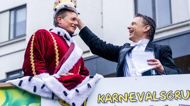 Peter Mygind er beæret over titlen som karnevalskonge. Foto: Lasse Sand