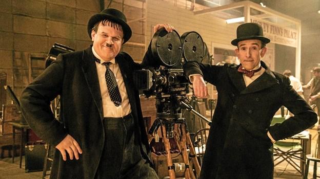 I hovedrollerne som Stan Laurel (Gøg) og Oliver Hardy (Gokke) ses britiske Steve Coogan og John C. Reilly. Foto: Presse