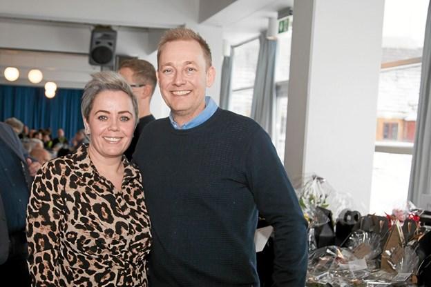 Mette og Michael Nyholm Sort ved receptionen på Hotel Hirtshals. Foto: Peter Jørgensen Peter Jørgensen