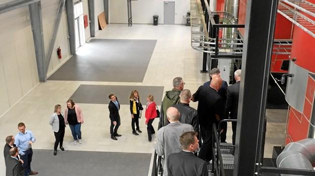 Varmeværket i Aabybro blev også besøgt. Foto: Jammerbugt Kommune