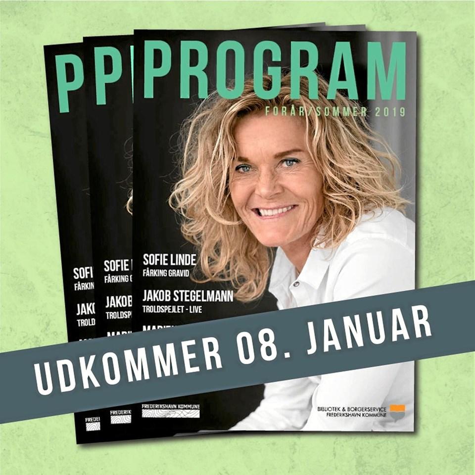 Nyt program fra Bibliotek & Borgerservice udkommer 8. januar 2019.