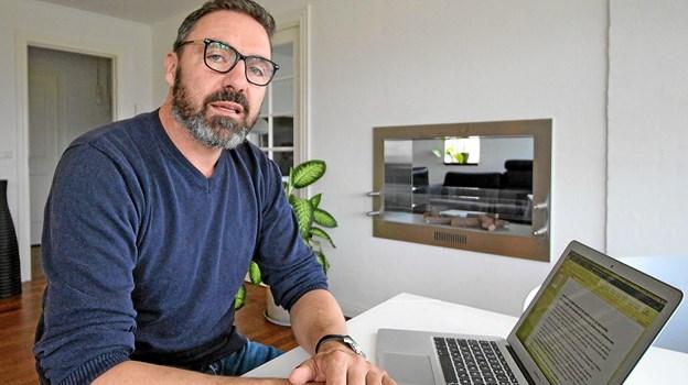 Direktør Henrik Toftgaard, LifeXite, har udviklet en digital platform, der har sendt ham og hans firma i finalen i en landsdækkende konkurrence. Foto: Jørgen Ingvardsen