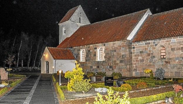 Vindblæs Kirke med visesang med organist i Løgstør Kirke, Asbjørn Høgholm. Foto: Mogens Lynge Mogens Lynge