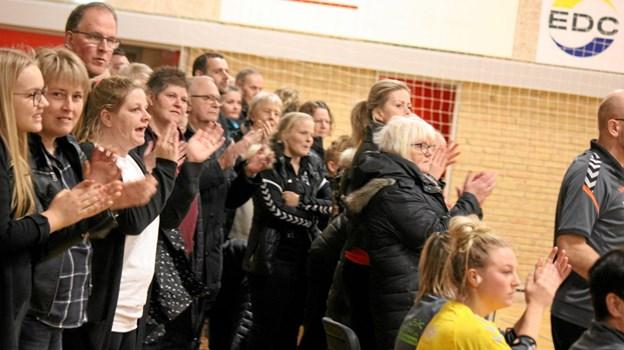 Publikum fulgte ivrigt med. Foto: Flemming Dahl Jensen Flemming Dahl Jensen