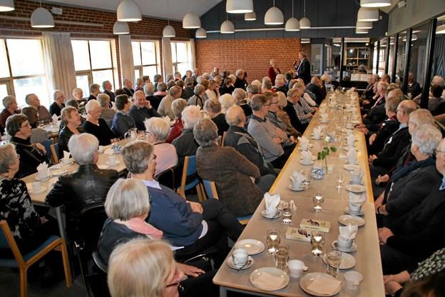 Der blev lyttet intens til Hilda Heicks foredrag. Foto: Hans B. Henriksen Hans B. Henriksen
