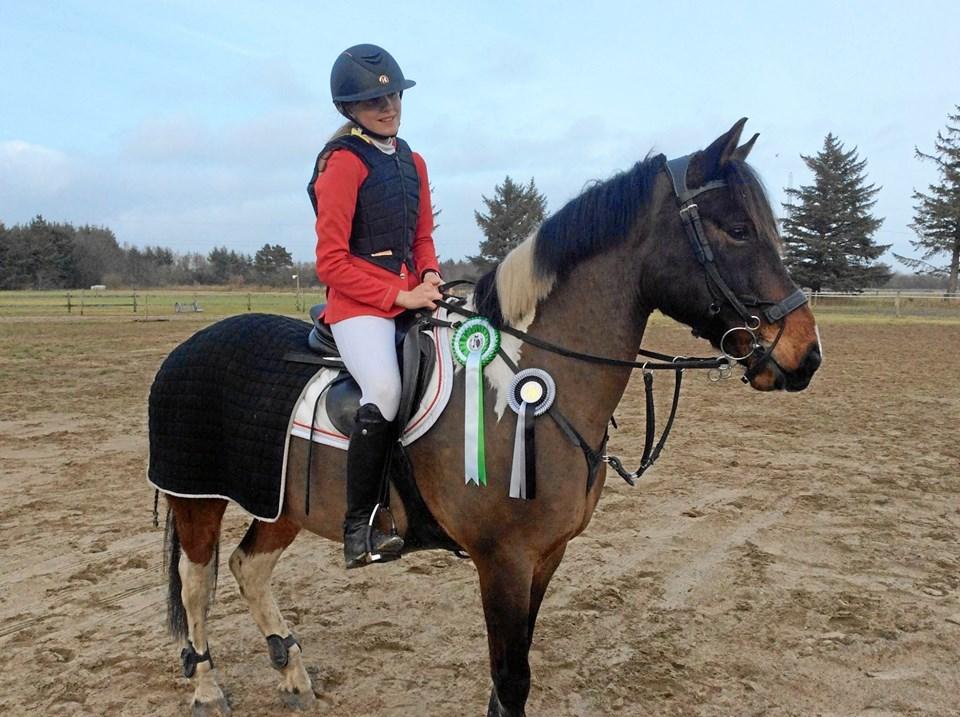 Ida Christoffersen/Jupiter markerede sig flot i hesteklasserne. Privatfoto