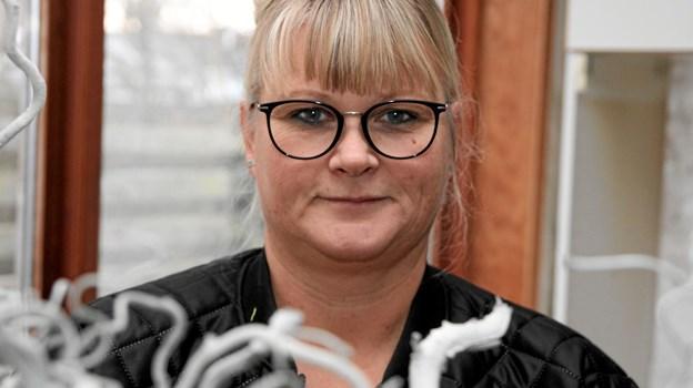 Hanne Beer Kok glæder sig til den nye blomsterbutik på hovedgaden i Pandrup. Foto: Flemming Dahl Jensen Flemming Dahl Jensen