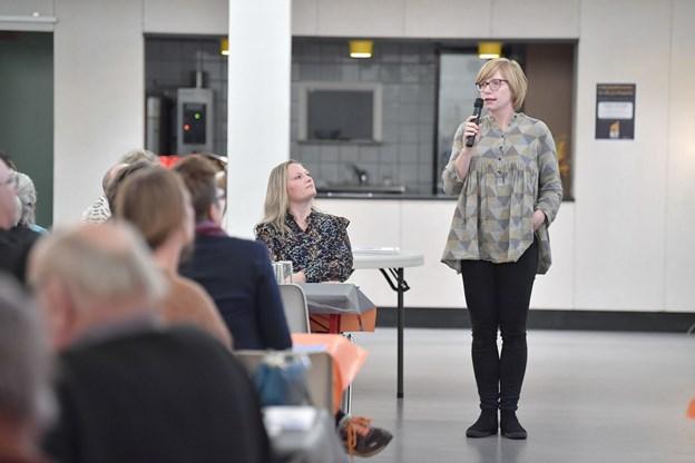 Anne Marie Sandvig, konsulent Hjørring Kommune understregede at tilblivelsen af visonsplanen er en åben proces med borgerinddragelse. Foto: Bente Poder