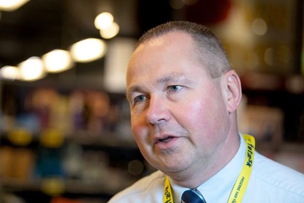Søren Flodgaard har sammen med andre vininteresserede fra Brønderslev fået vinfestivalen op at stå. Foto: Henrik Louis