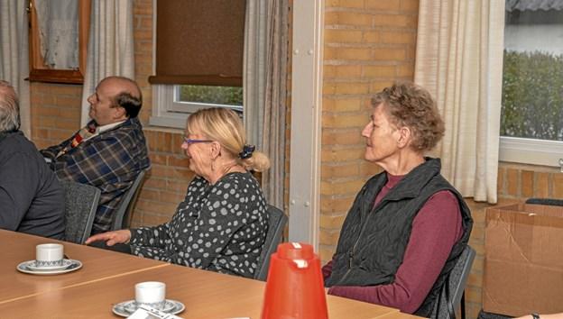 Der blev lyttet og kigget lysbilleder i Menighedshuset i Aggersund. Foto: Mogens Lynge Mogens Lynge