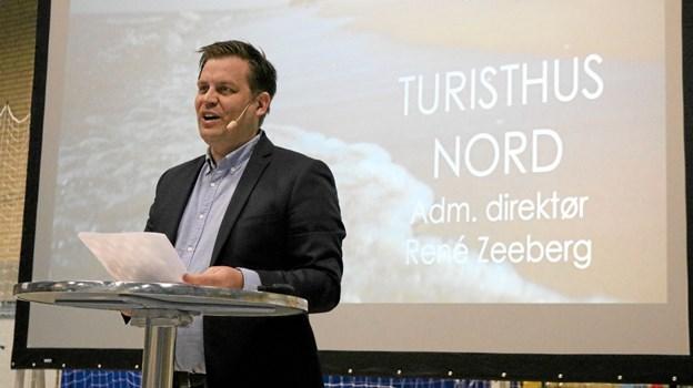 Direktøren for Turisthus Nord, René Zeeberg, bød velkommen til et bredt dækkende informationsmøde.Foto: Tommy Thomsen
