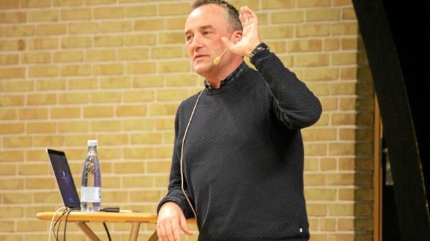Peter Ingemann var fantastisk til at fortælle om den meget populære serie fra TV 2 - Størst. Foto: Flemming Dahl Jensen
