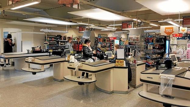 Ud over kendte kassesluser vil der blive installeret 2 bip og betal stationer (selvbetjening). Foto: Karl Erik Hansen Karl Erik Hansen