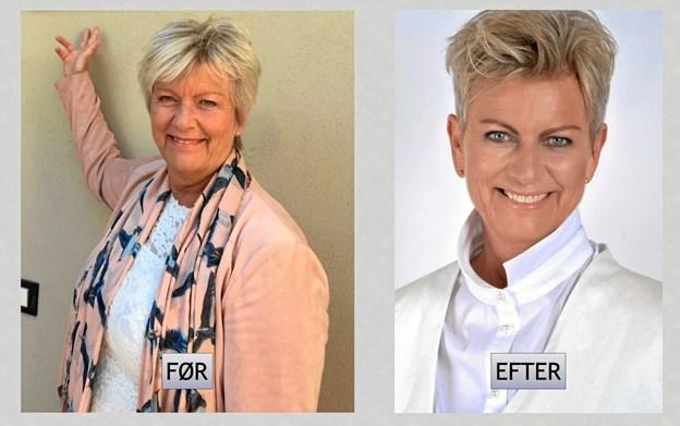 Luuna Sommer - før og efter vægttabet. Privatfoto