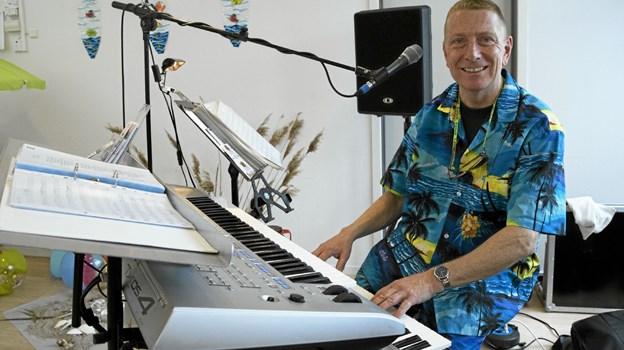 Jan Guldbæk Sørensen leverede musikken. Foto: Allan Mortensen Allan Mortensen