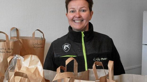 Lena Pedersen fra Lykkeposen Foto: Arne Larsen-Ledet