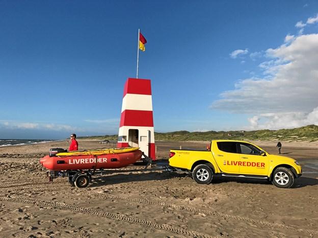 Trygs livreddere havde særdeles travlt i uge 30. På Palmestranden i Frederikshavn slap man heldigvis for livsfarlige situationer, men 80 gange måtte livredderne på stranden yde førstehjælp.Foto: Trygfonden