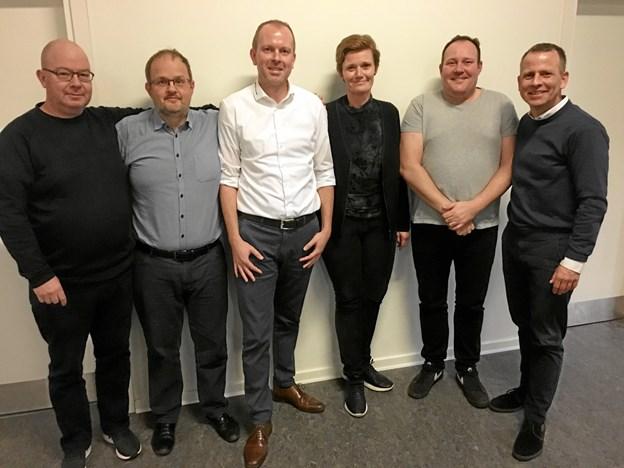 Det er en bestyrelse fuld af begejstring og optimisme, der står i ledelsen for fodboldafdelingen i Skalborg Sports Klub. Privatfoto