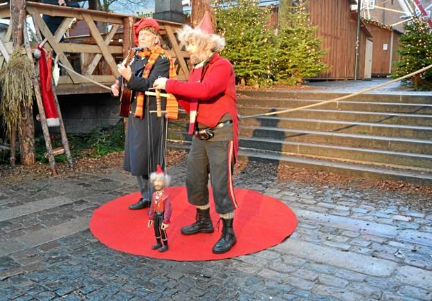 Nisserne Herr Von Grangren og Hilmer Halmkvist kommer også forbi minen. Privatfoto