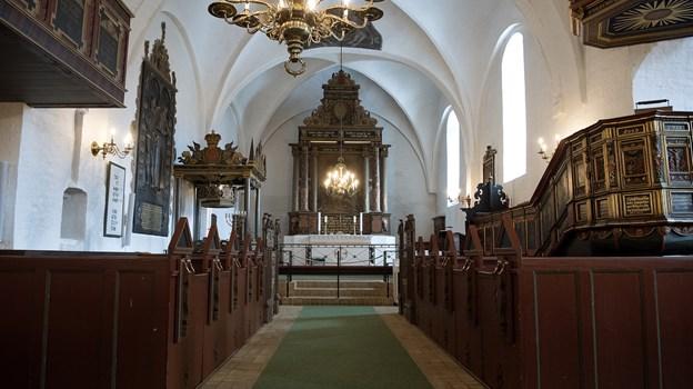 I Dronninglund Sogn bliver konfirmanderne konfirmeret i Dronninglund Kirke. Arkivfoto: Lars Pauli