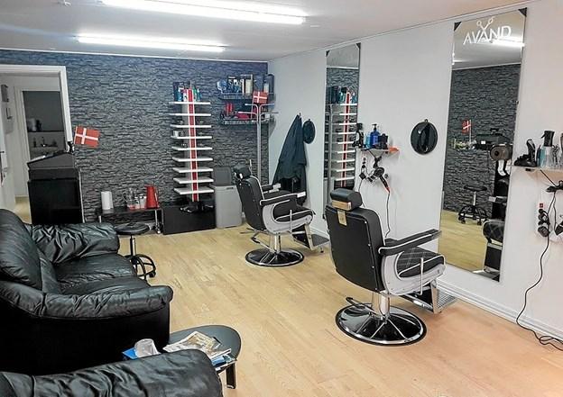 Den fine salon byder også på bløde ventemøbler. Foto: Karl Erik Hansen Karl Erik Hansen