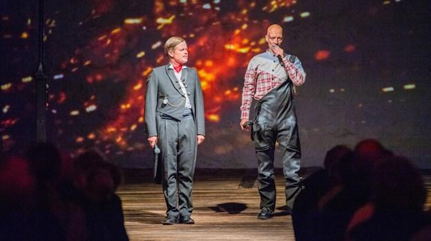 Casper Phillipson og Jimmy Jørgensen samlede i september købstadens 200 år i en forestilling.