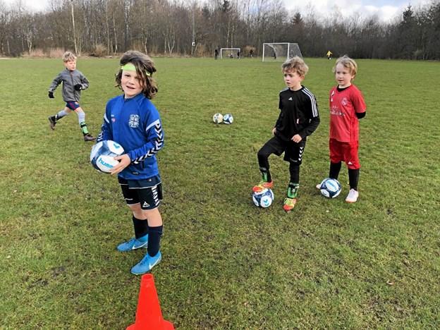 Unge spillere klar til en ny sæson... Foto: Privat Privat