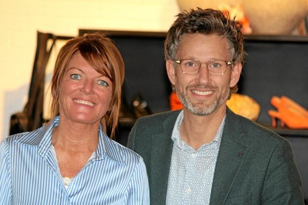 Rikke Brusgaard og Jesper Damgaard havde et vellykket modeshow. Flemming Dahl Jensen