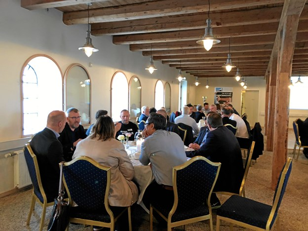 Mariagerfjord Erhvervsråd havde fristet 55 lokale virksomhedsfolk til morgenmødet. Privatfoto