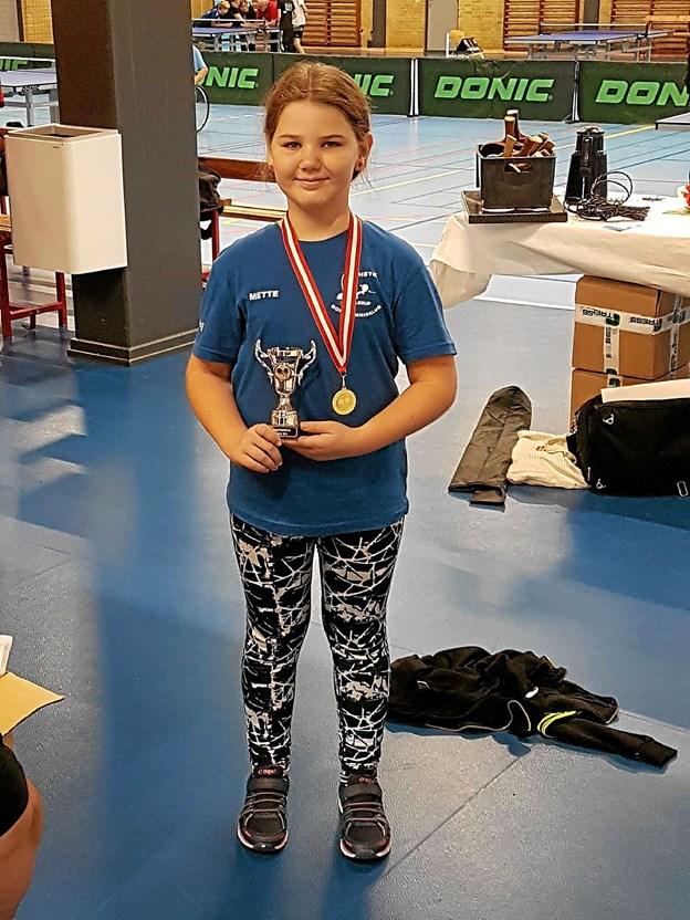 Vinder i pigerækken blev Mette Pedersen, Hjallerup.Privatfoto