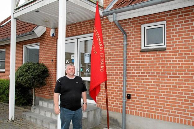 Frits Sørensen vil gerne at det fortsat bliver en tradition at afholde 1. maj i Kaas. Foto: Flemming Dahl Jensen