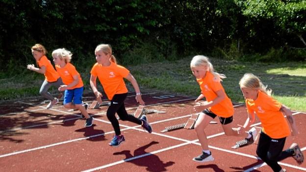 Starten er gået til efterårstræningen på Sæby Atletikstadion Foto: Gunnar Møller Nielsen