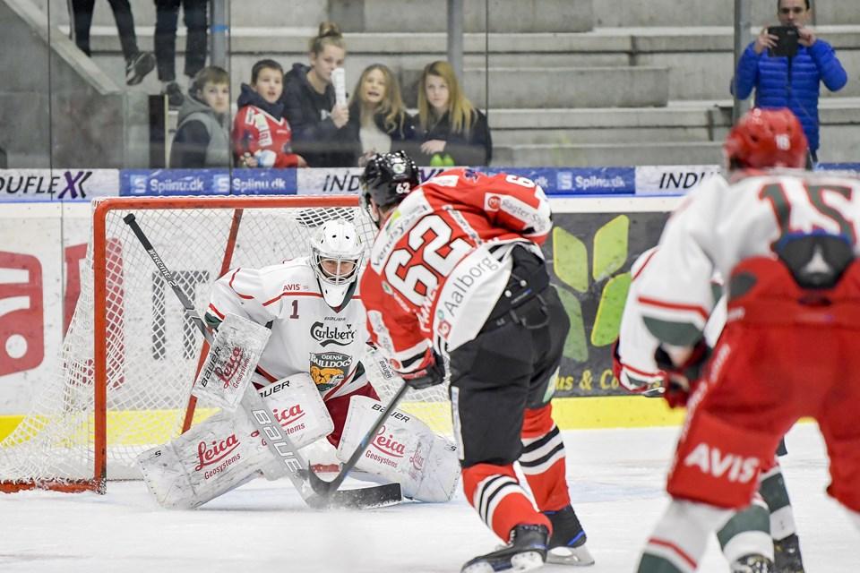 Aalborg Pirates møder hjemme Odense Bulldogs i Isligaen. Foto: Henrik Bo