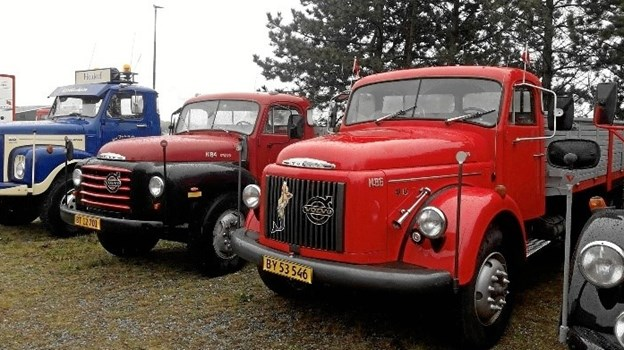 Frank Nørager har en flot vognpark med veteranlastbiler, der er hans store passion. Privatfoto