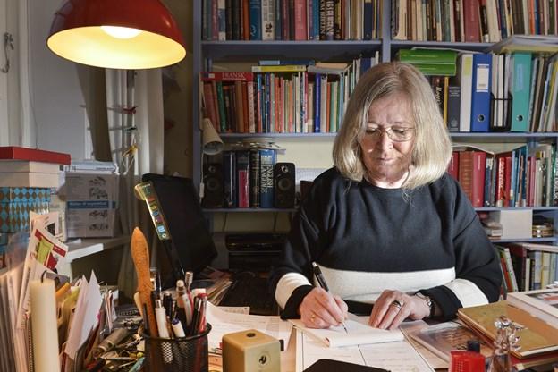 Hanne Kjeldsen i Vrå Sognegård.  Arkivfoto: Bent Bach