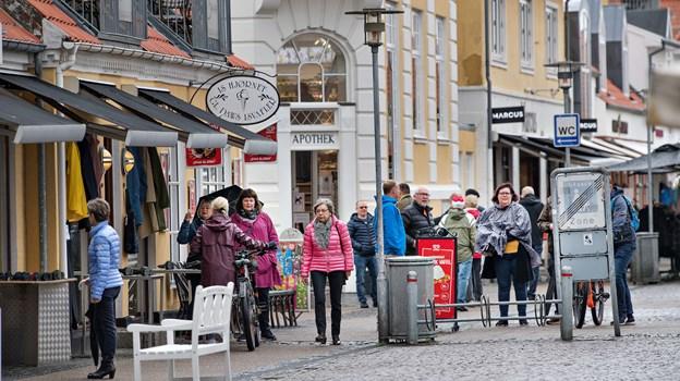 Butikkerne har det bedre i Skagen end i Frederikshavn og Sæby, men der er alligevel fortsat behov for udvikling og Cowi, der har gennemført analysen kommer med nogle bud på hvordan 2. april.Arkivfoto.