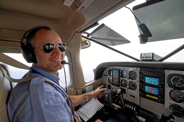 Kenneth Pedersen fortæller 25. april i Aars Kirke om sit arbejde som pilot for Mission Aviation Fellowship på Madagascar. Privatfoto