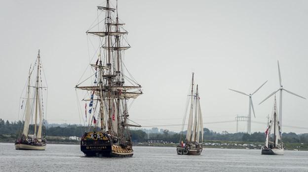 Skibene er folkefestens hovedattraktion. Arkivfoto: Nicolas Cho Meier