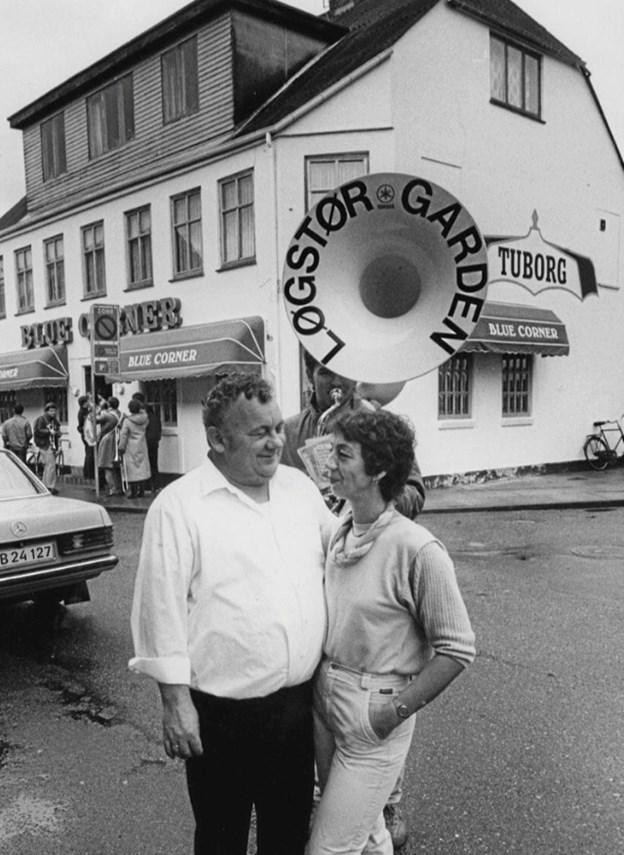 Connie Pedersen (Lunds) og frue Mie Jensen, der i 1980'erne ejede Blue Corner. ?Arkivfoto: Løgstør Lokalhistoriske Arkiv