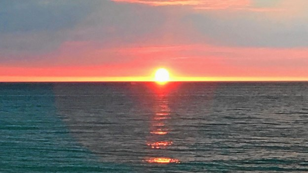 Og en fantastisk solnedgang til afslutning. Foto: Privatfoto Privatfoto