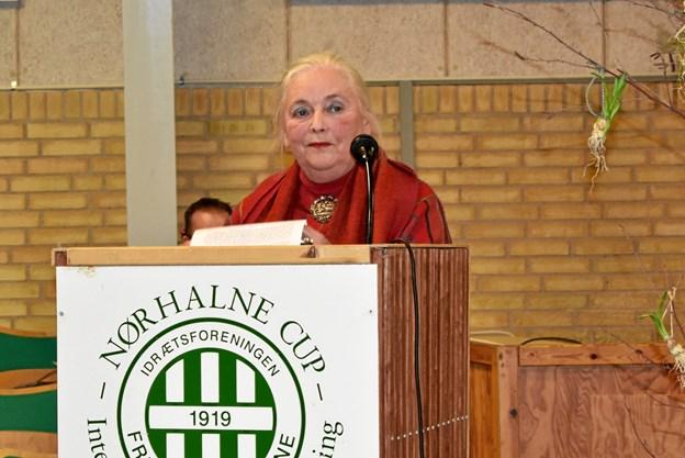 Grethe Rolle åbnede ferniseringen. Privatfoto