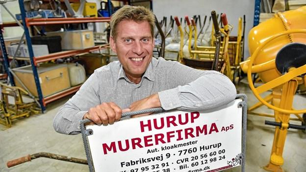 Fra 1. juli bliver Ricky Larsen igen eneejer af Hurup Murerfirma ApS. Foto: Ole Iversen